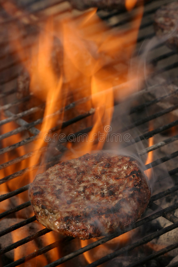 Download Hamburger flamboyant photo stock. Image du mangez, rôtis - 725494