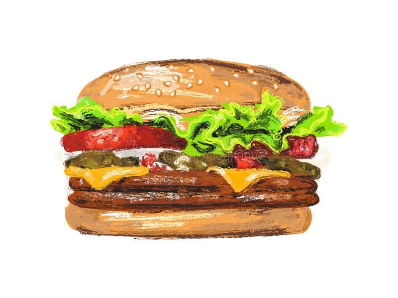 Hamburger fresco di ogni giorno illustrazione vettoriale