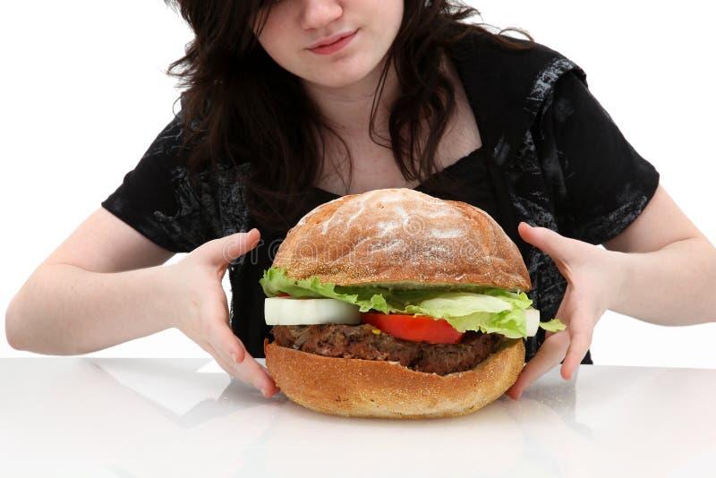 Hamburger gigante fotografia stock