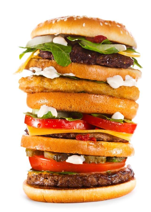 Hamburger grande imagem de stock royalty free