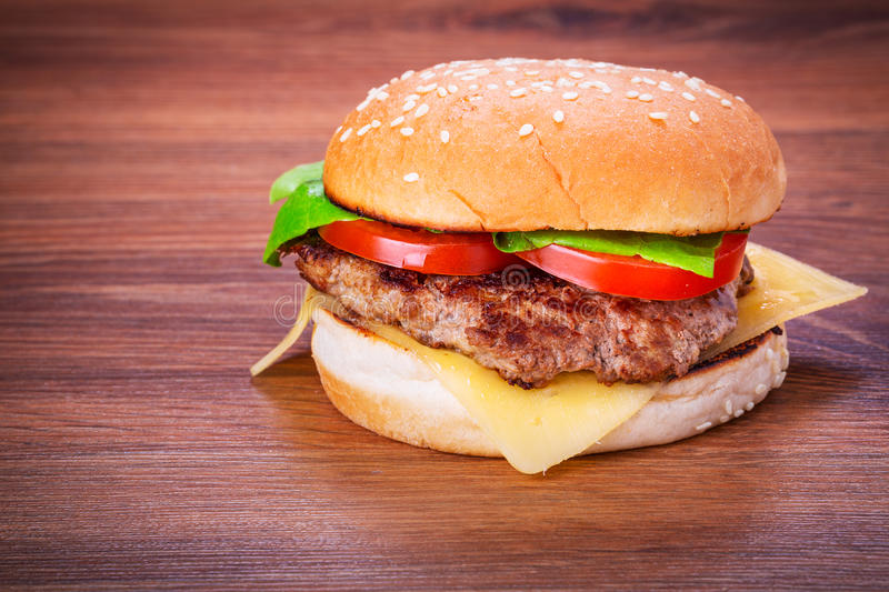 Download Hamburger With Grilled Beef Stock Photo - Image: 35697298