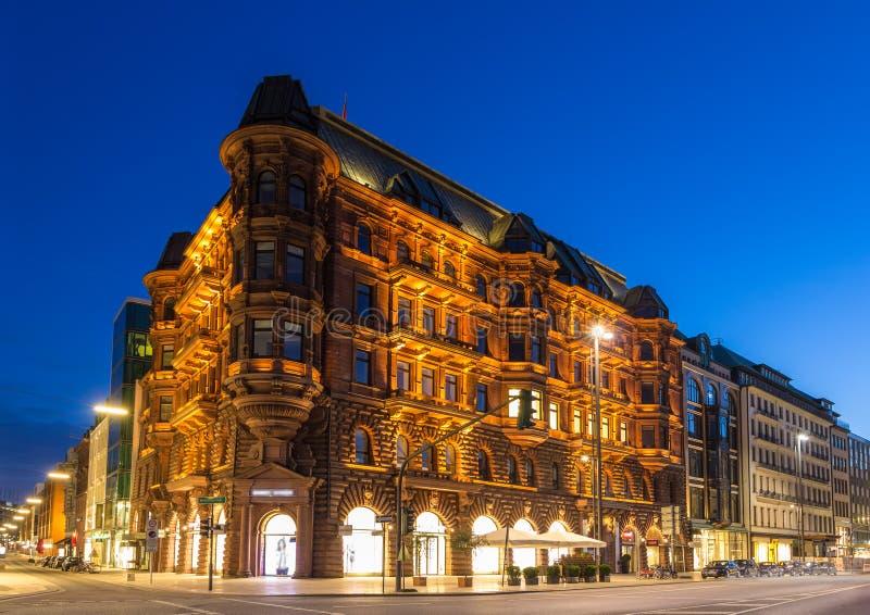 Hamburger Hof em Hamburgo, Alemanha fotos de stock royalty free