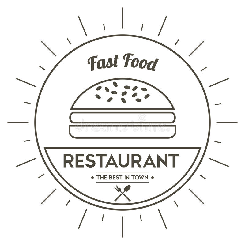 Hamburger icon. Menu and food design. Vector graphic royalty free illustration