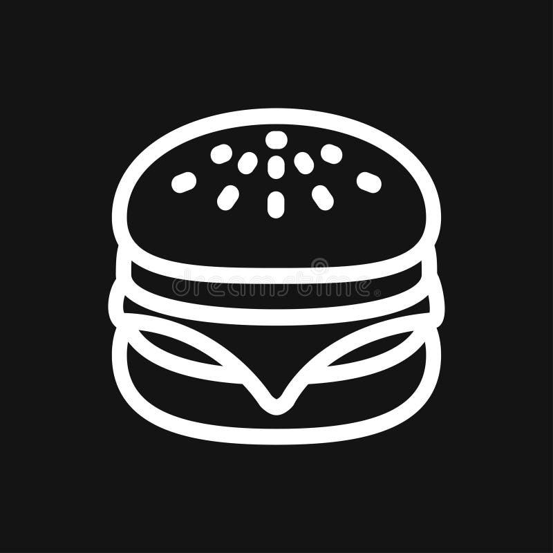 Hamburger ikony wektor ustawiaj?cy dla UI, UX, strona internetowa i wisz?cej ozdoby zastosowanie fast food, royalty ilustracja