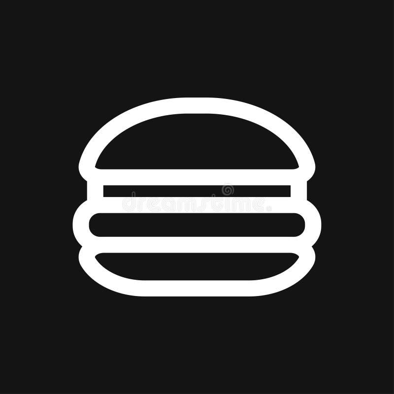 Hamburger ikony wektor ustawiaj?cy dla UI, UX, strona internetowa i wisz?cej ozdoby zastosowanie fast food, ilustracji