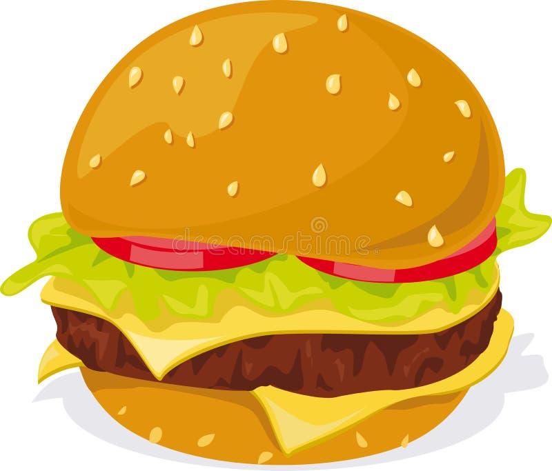 Hamburger - ilustração no fundo branco ilustração do vetor