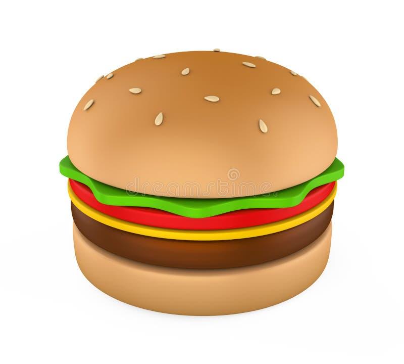 Hamburger isolado ilustração stock