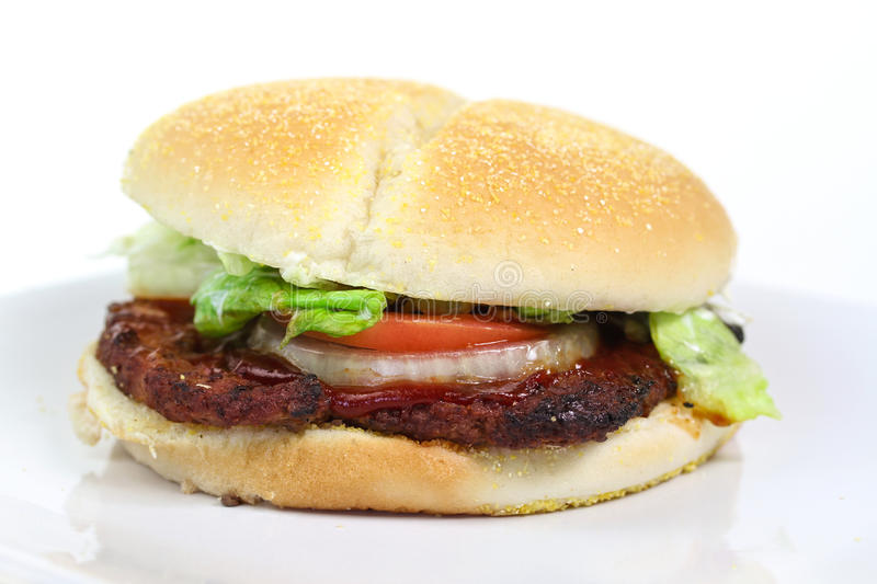 Download Hamburger isolated stock photo. Image of burger, diet - 20868252