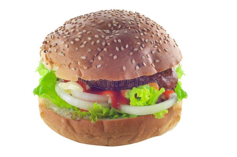 Hamburger isolated on white royalty free stock images