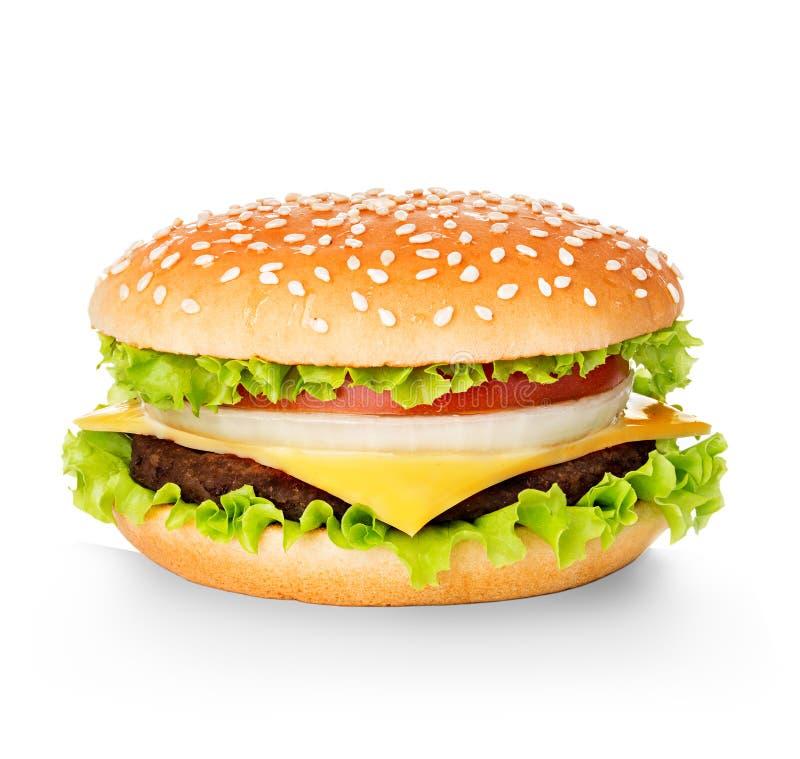 Hamburger isolated on white royalty free stock photo