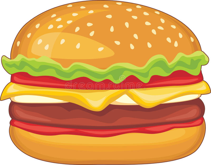 Hamburger isolated on the white royalty free stock photos