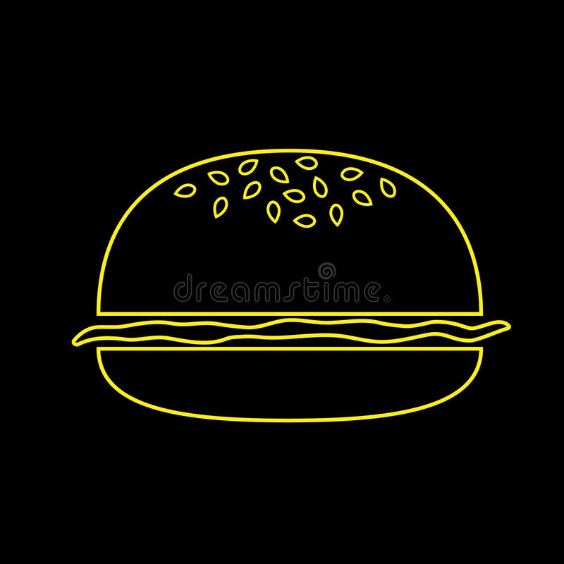 Hamburger jaune photographie stock