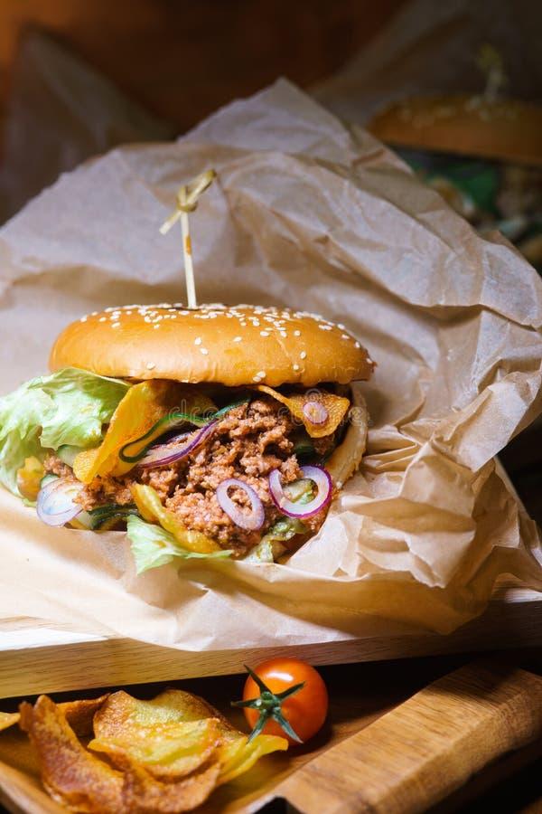 Hamburger Joe sporco immagine stock