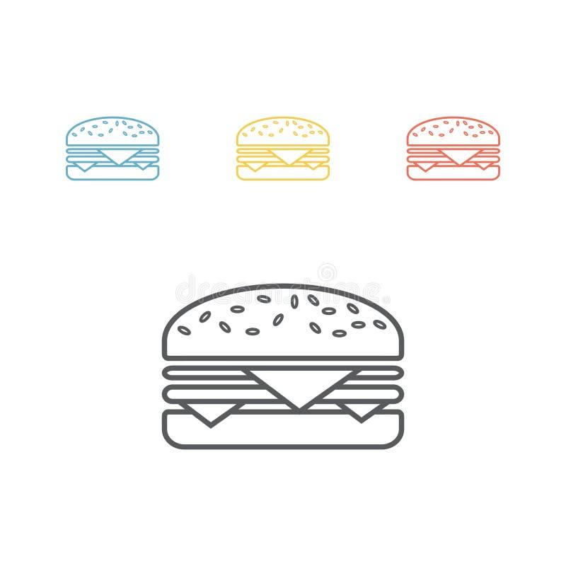 hamburger Linha ícone Vector o sinal ilustração do vetor