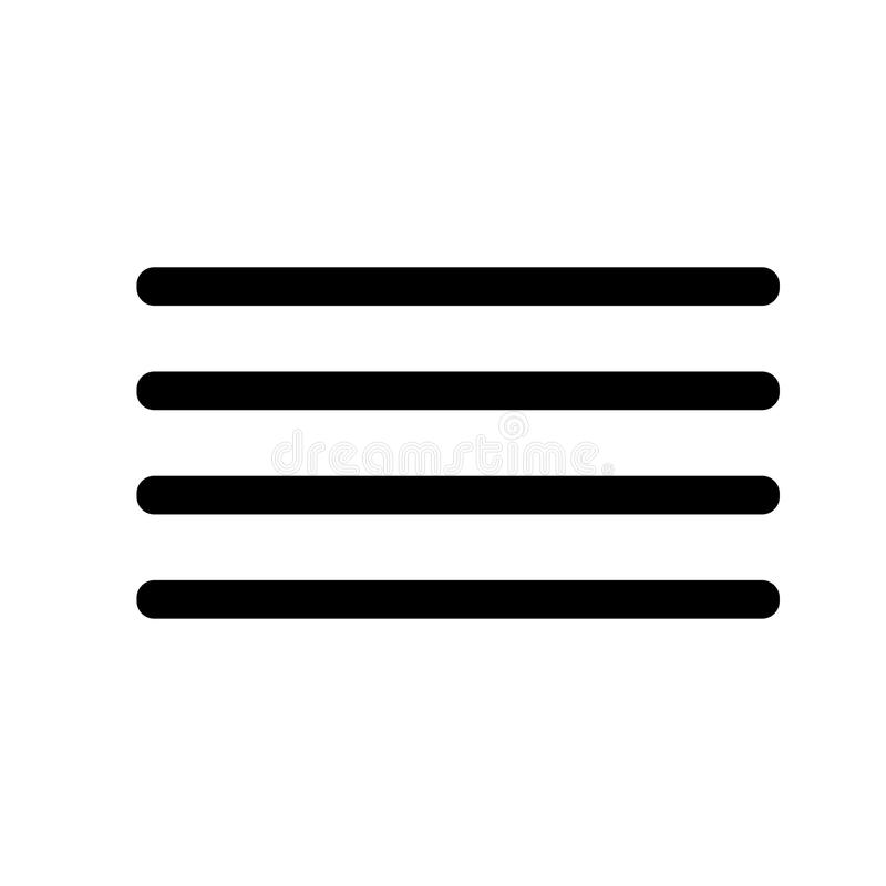 Hamburger, linie, menu ikona ilustracji