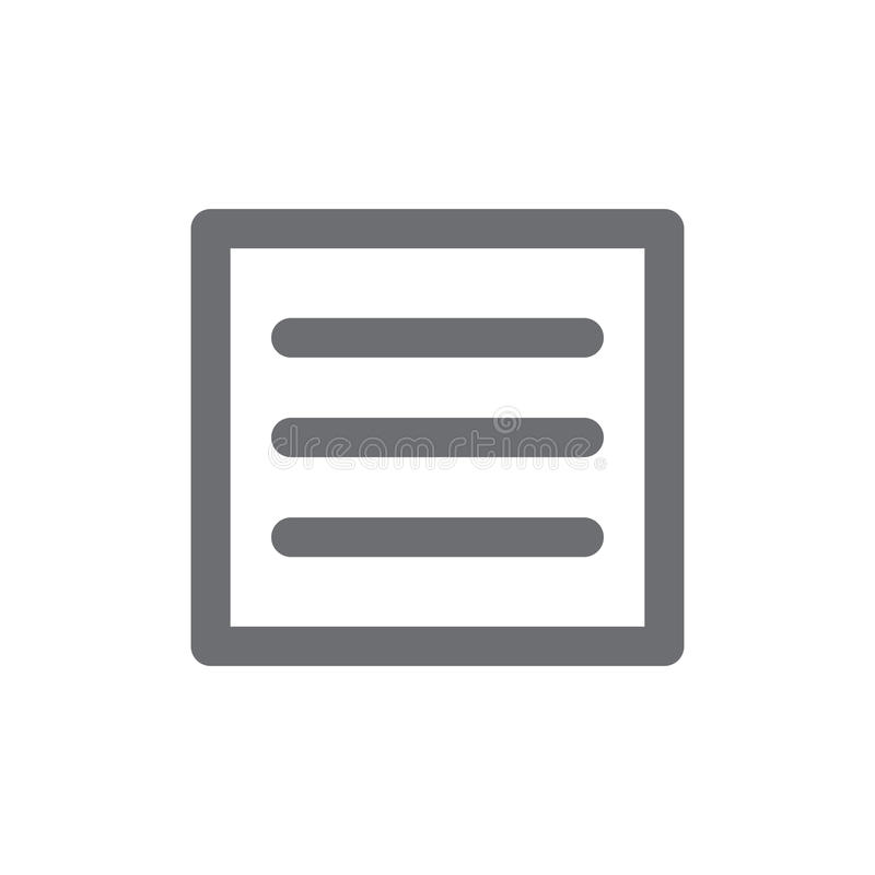 Hamburger Manu - icone di UX e di UI per il cellulare o le applicazioni web illustrazione vettoriale