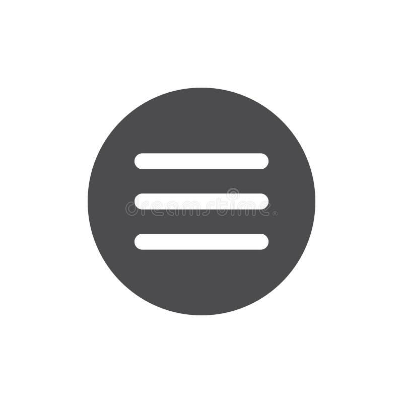 Hamburger Manu - UI i UX ikony dla royalty ilustracja