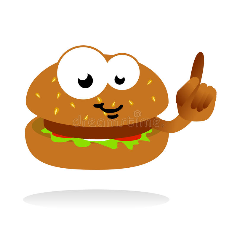 Hamburger mascot royalty free illustration