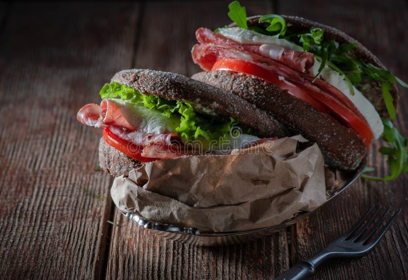 Hamburger met mozarella