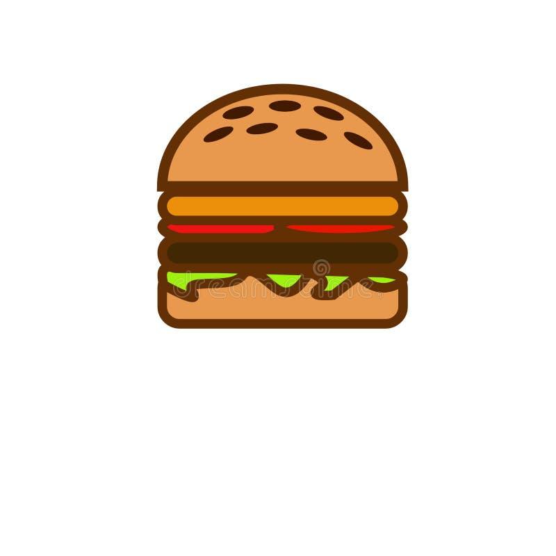 Hamburger, nossa comida lixo popular ilustração stock