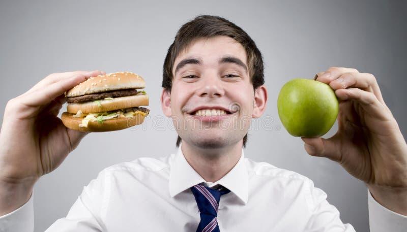 Hamburger o mela fotografia stock