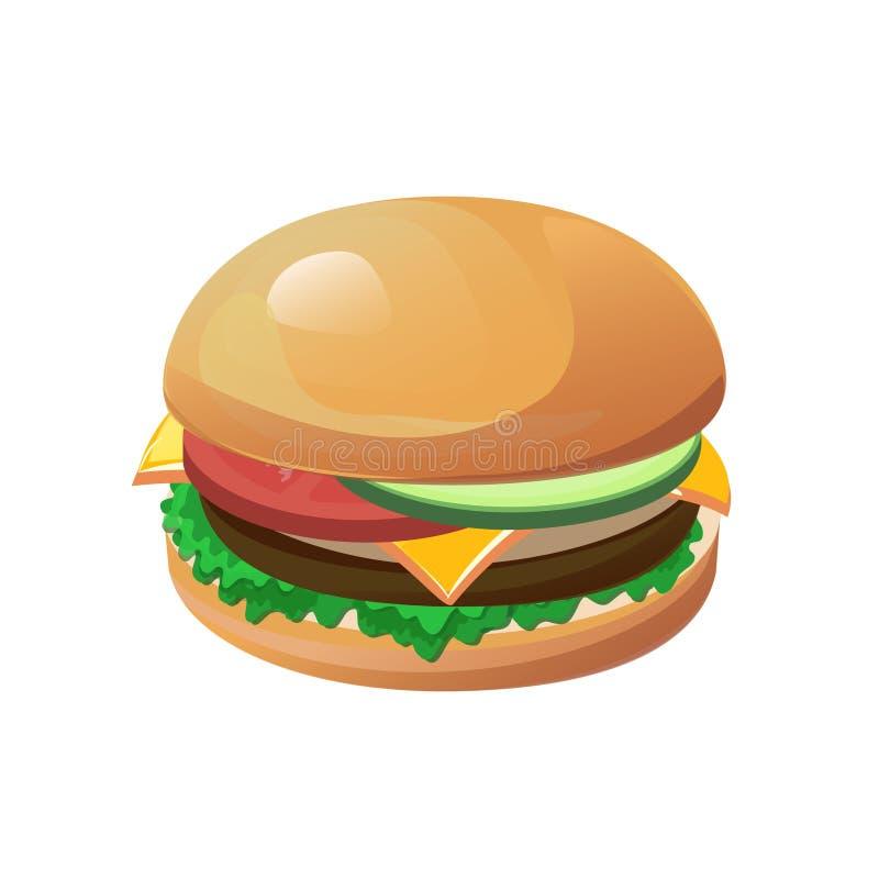 hamburger odizolowane royalty ilustracja