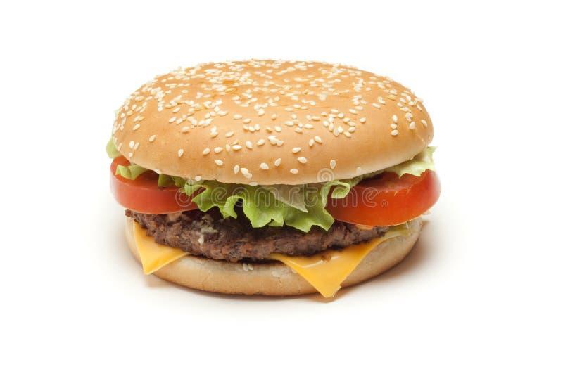 hamburger odizolowywał fotografia stock