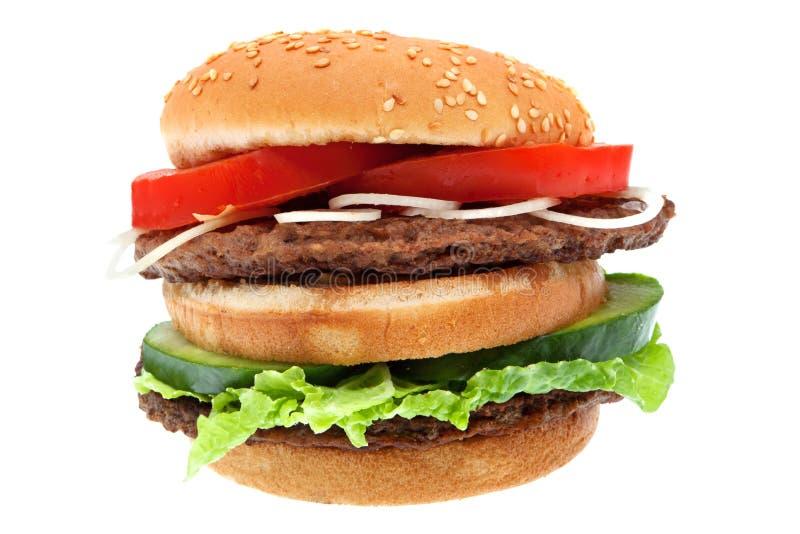 hamburger odizolowywający fotografia royalty free