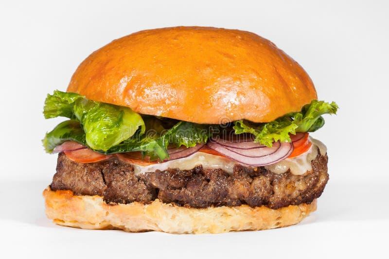 Hamburger op een witte achtergrond royalty-vrije stock foto's