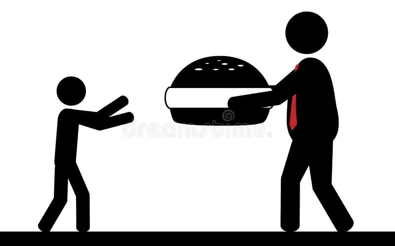 Hamburger para crianças ilustração royalty free