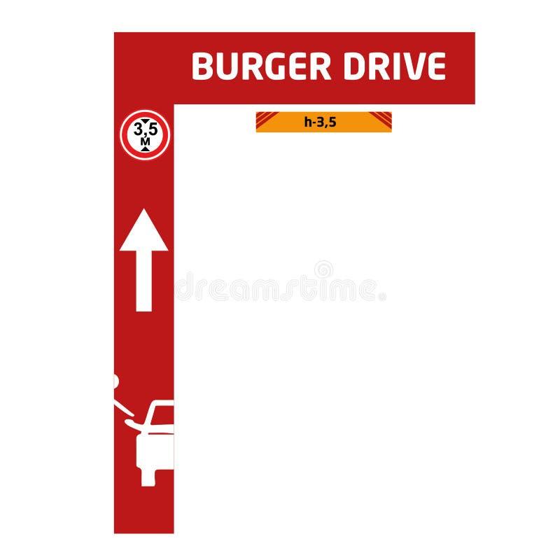 Hamburger przejażdżki stojak obrazy royalty free