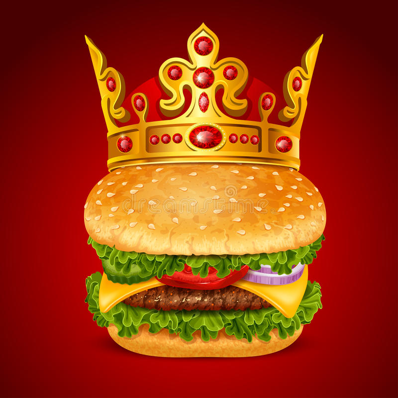 Hamburger real ilustração royalty free