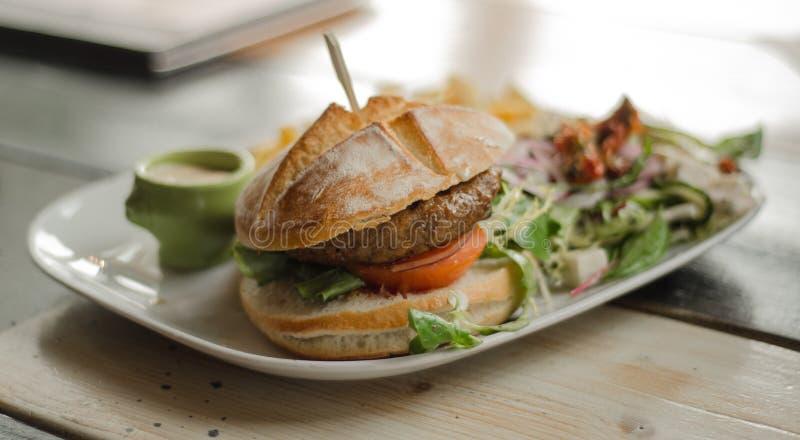 Hamburger With Salad Free Public Domain Cc0 Image