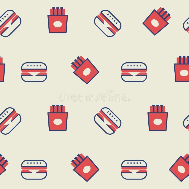 Hamburger seamless background vector illustration
