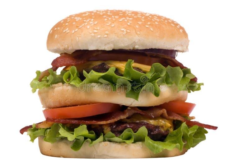 Hamburger Series (bacon cheeseburger) royalty free stock photos