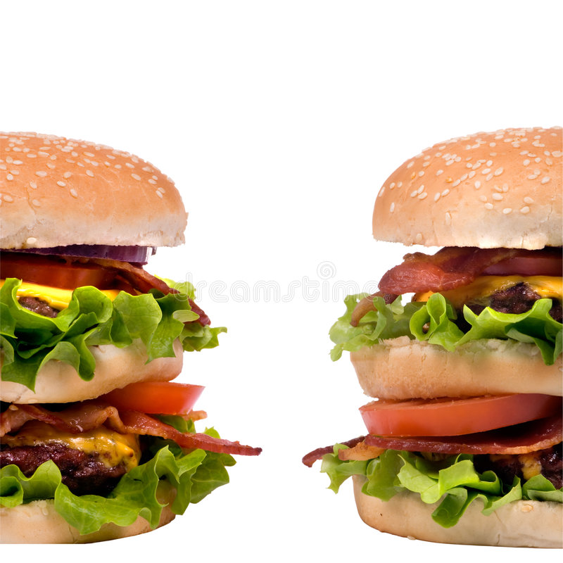Download Hamburger Series (Twin Burgers) Stock Image - Image of hamburger, eating: 2024467