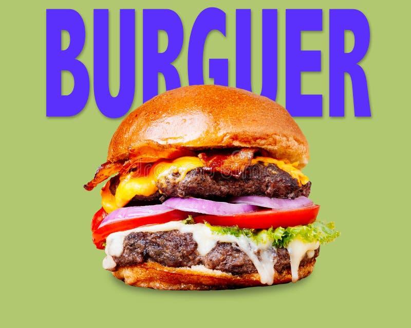 Hamburger sign stock image