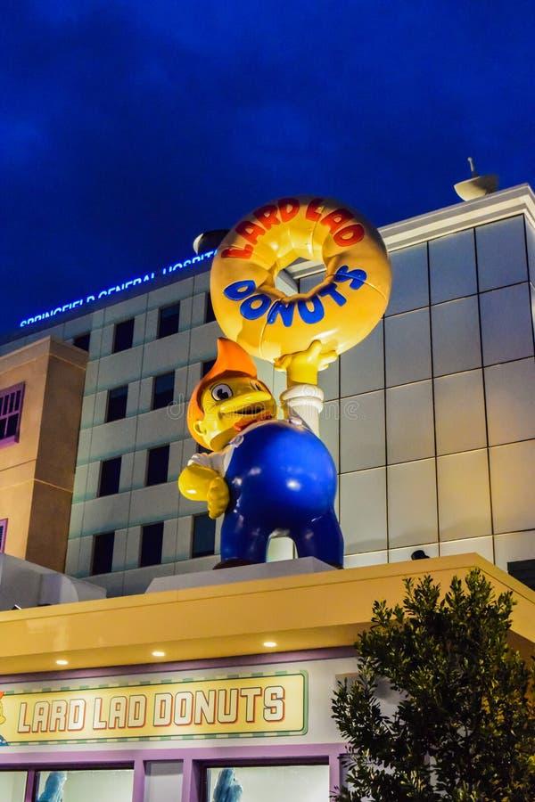 Hamburger Simpsons di Krusty immagini stock