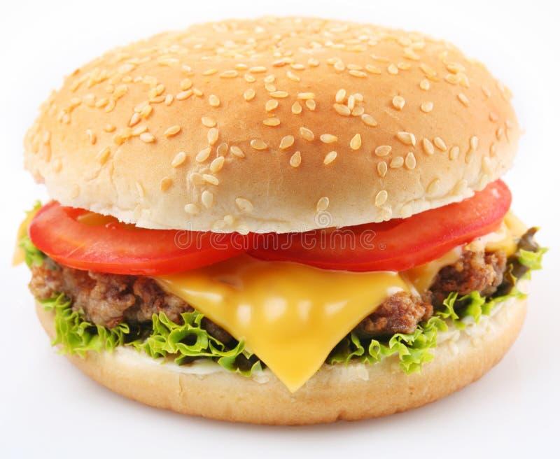 Hamburger su un bianco fotografie stock