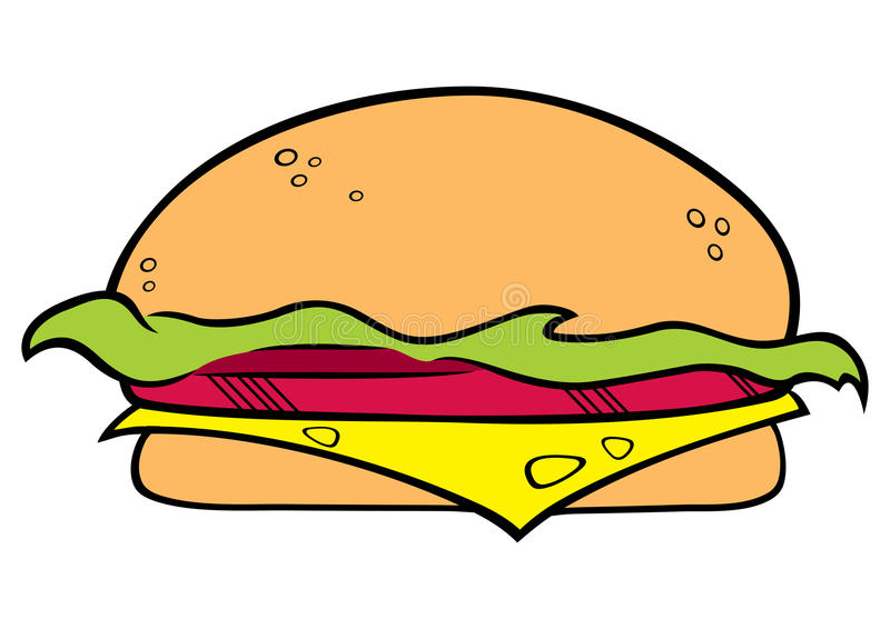 Download Hamburger symbol stock vector. Illustration of fastfood - 25229813