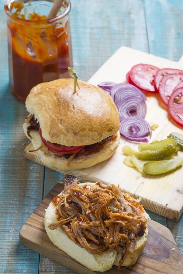 Hamburger tagliuzzati della carne immagini stock