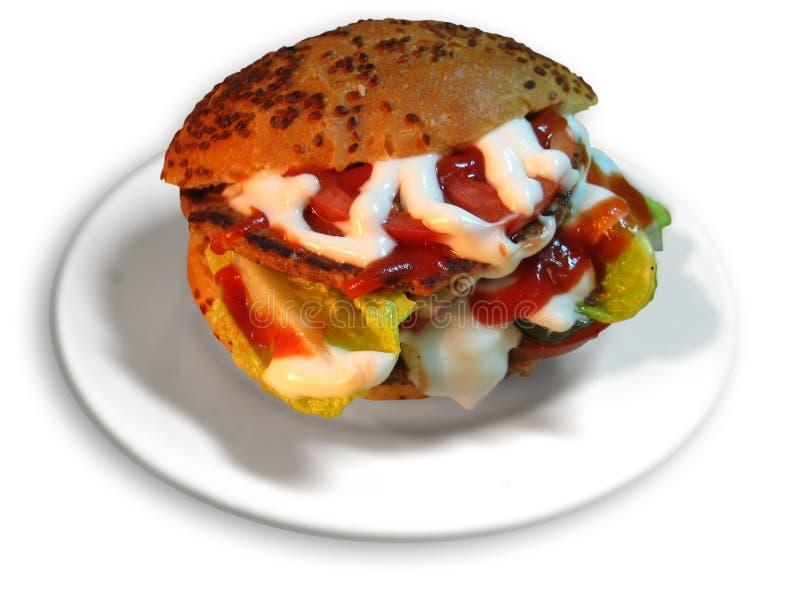 Download Hamburger turc image stock. Image du grillé, sandwich, pain - 74175