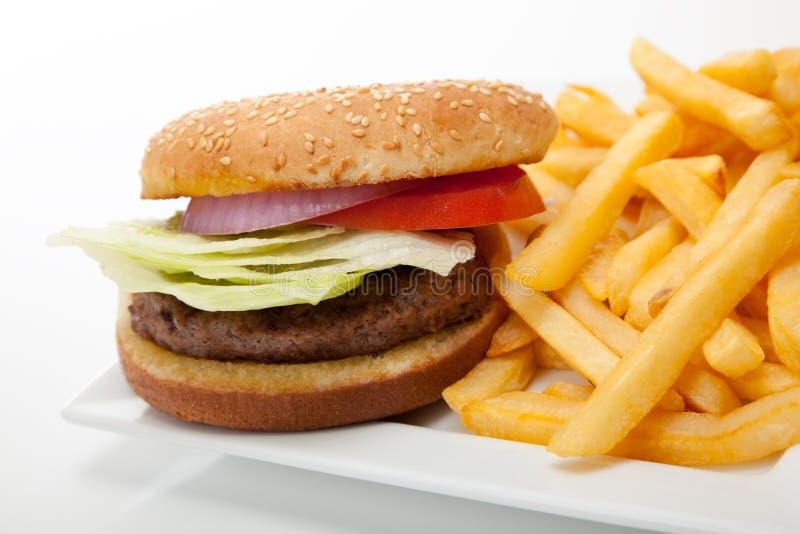 Hamburger und Fischrogen stockfotos