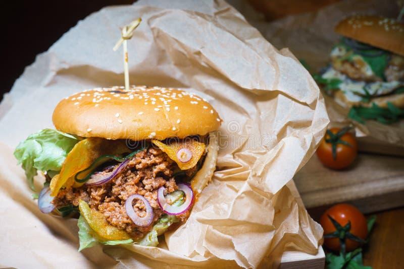 Hamburger vuile Joe stock fotografie