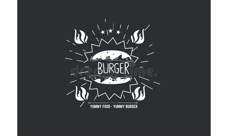 Hamburger, yummy jedzenie - yummy hamburger ilustracji