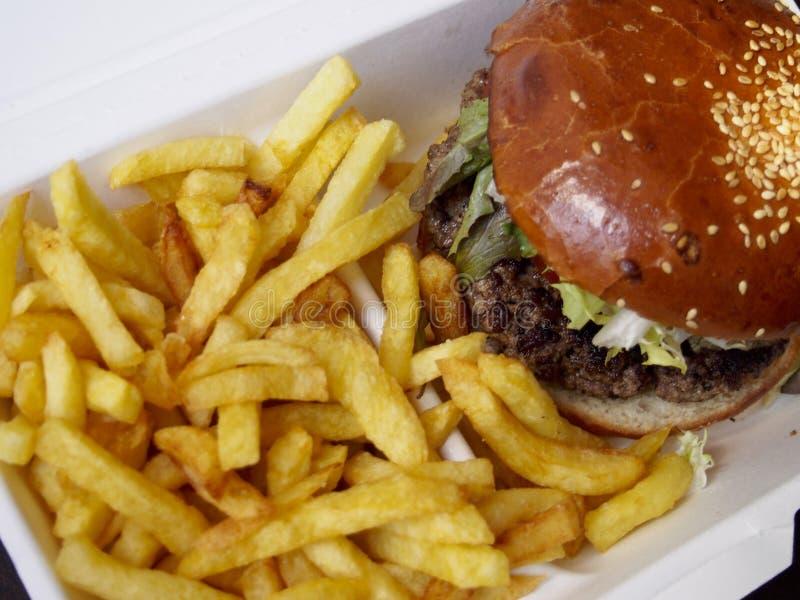 Hamburger z dłoniakami zdjęcia royalty free