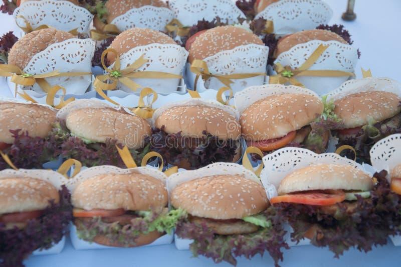Hamburger zakąska fotografia royalty free