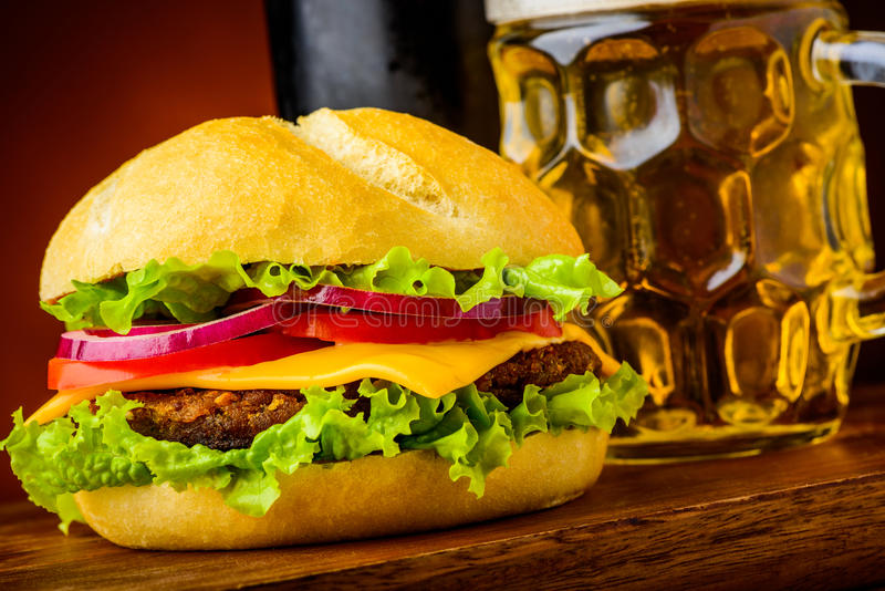 Hamburgerdetail lizenzfreie stockfotos
