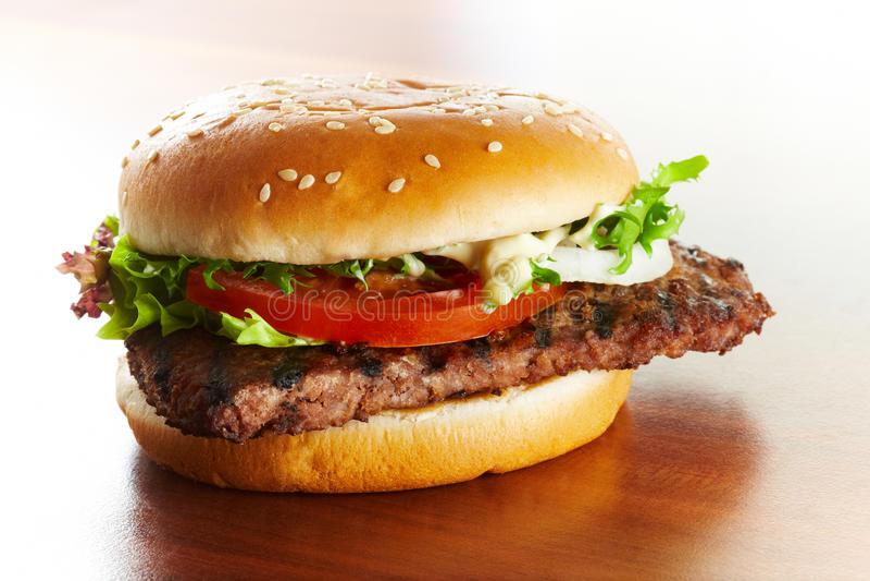 Hamburgernahaufnahme stockfotos