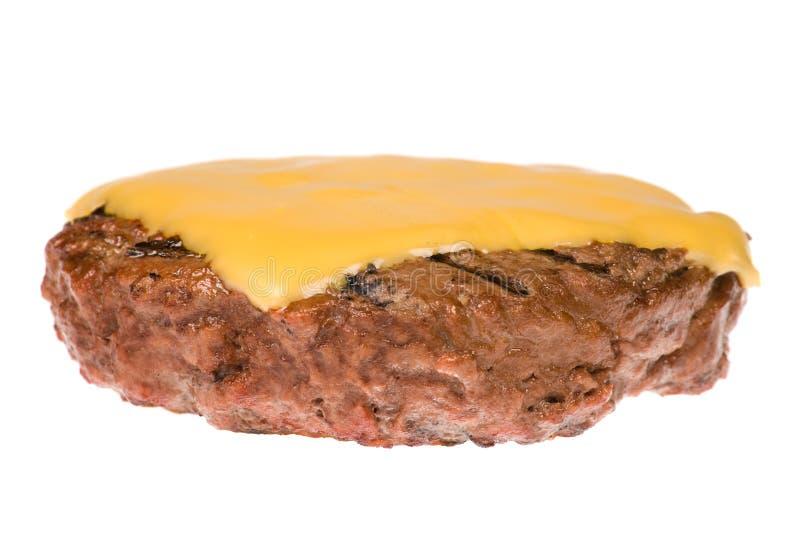 Hamburgerpastetchen mit Käse lizenzfreies stockfoto